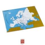 Carte de contrôle Europe (anglais)