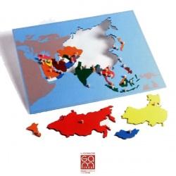 Carte Puzzle Asie
