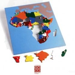 Carte puzzle de l'Afrique