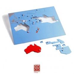 Carte puzzle Océanie - Pacifique