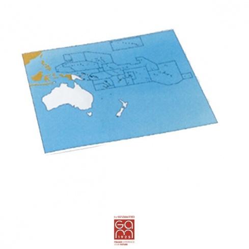 Carte de contrôle muette Océanie - Pacifique