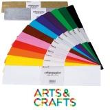 Boite 100 feuilles assorties de papier crépon 50 x 250 cm - élasticité 30% - 27 gr