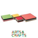 Pack 480 feuilles carrées - papier craft 60 gr - 12 couleurs assorties