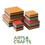 Pack 480 feuilles carrées - papier craft 120 gr - 12 couleurs assorties