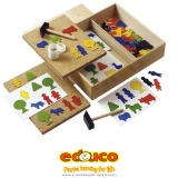 Happy hammer geo set of plastic shapes (contens 144 pcs)
