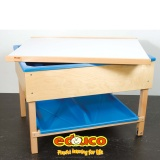 Sand and water table covering plate