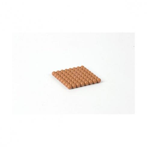 Carré de 8 en perles connectées nylon marron