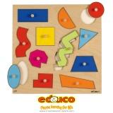 Inlay board - geometric shapes