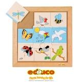 Animals puzzle - flying animals