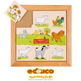 Animals puzzle - farmyard animals