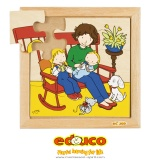 Family puzzles - New baby - eating (9 pieces)