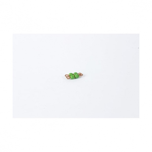 Carré de 2 en perles de verre individuelles : vert