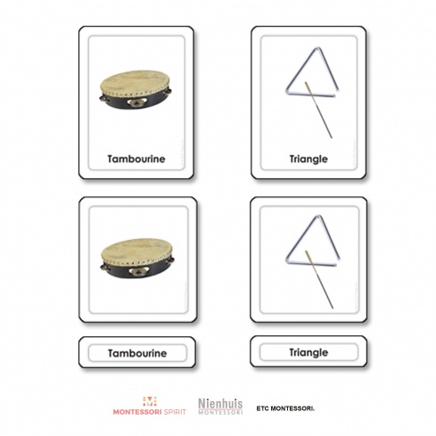 Musical Instruments 3 Part Cards