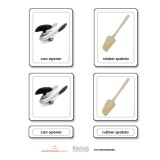 Kitchen Utensils 3 Part Cards