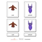 Clothes 3 Part Cards