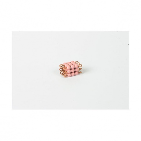 Cube de 3 en perles de verre individuelles : rose