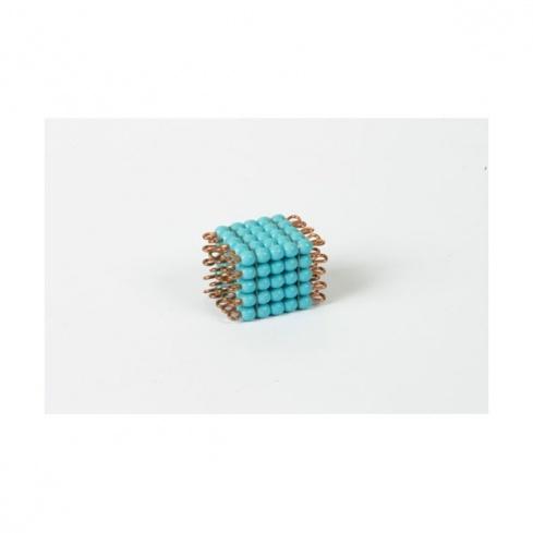 Cube de 5 en perles de verre individuelles : bleu clair