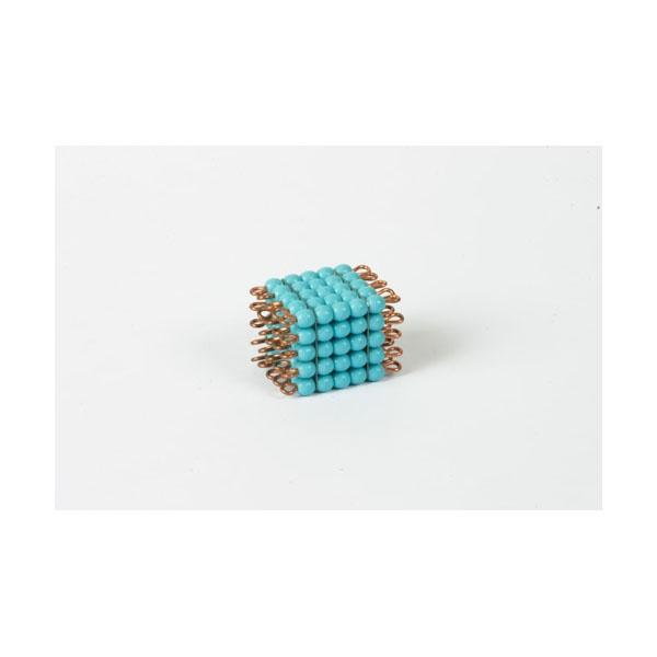 cube de 5 en perles de verre individuelles bleu clair montessori spirit. Black Bedroom Furniture Sets. Home Design Ideas