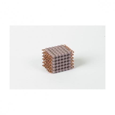 Cube de 6 en perles de verre individuelles : violet