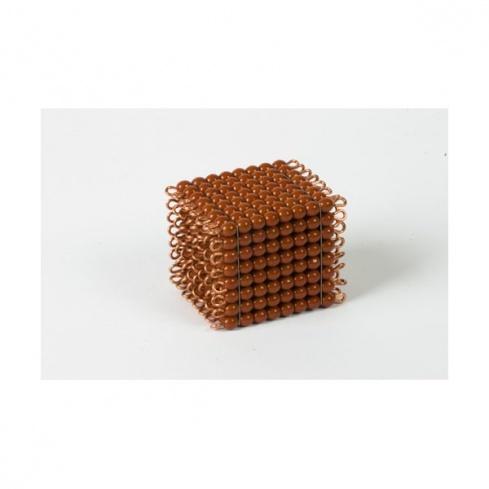 Cube de 8 en perles de verre individuelles : marron