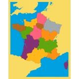 Carte puzzle de la France