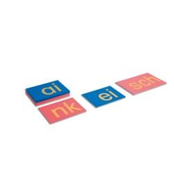 Sandpapierbuchstaben Buchstabenverbindungen, Druckschrift