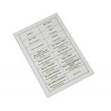 Kontrollkarte zur Satzzerlegung