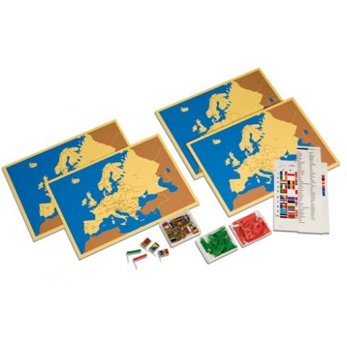 Steckkarten Europa